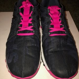 black and pink Adidas